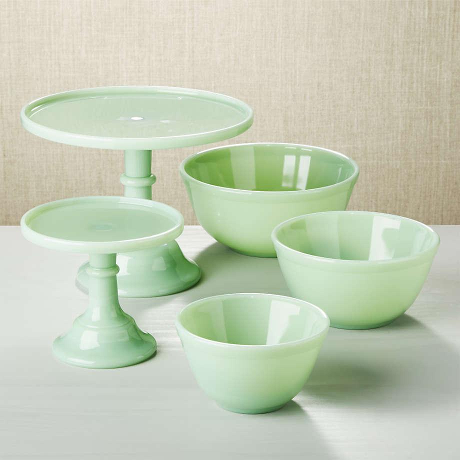 Jadeite mixing bowls - Crate & Barrel
