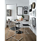 """View Nero 48"""" White Marble Dining Table with Matte Black Base - image 3 of 8"""