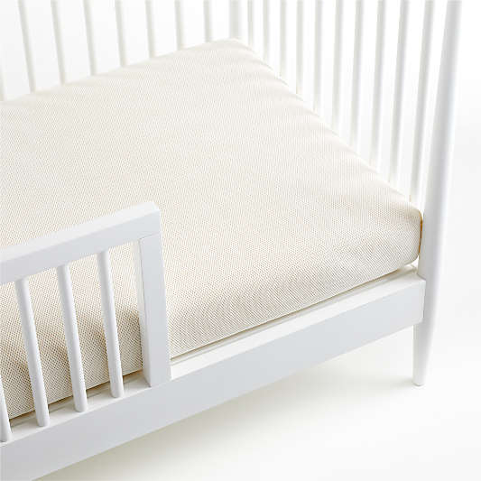 Naturepedic Organic Cotton Breathable 2-Stage Baby Crib Mattresses with Waterproof Breathable Pad