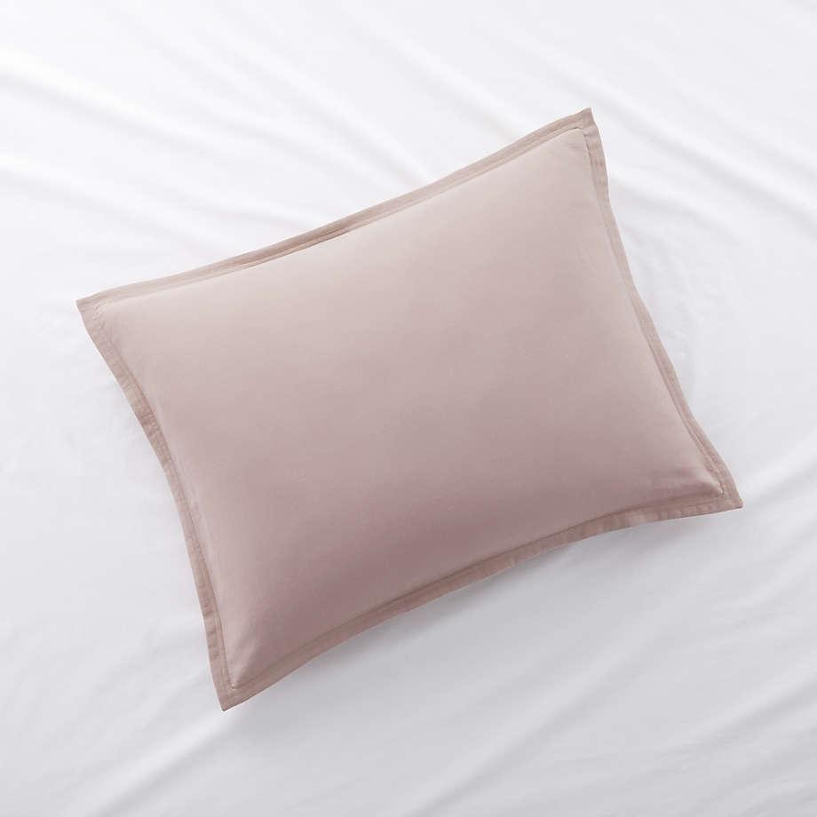 Organic Double Weave Haze Pink Standard Sham (Open Larger View)