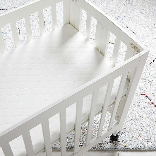 Babyletto Pure Core Mini Baby Crib Mattress with Hybrid Waterproof Cover