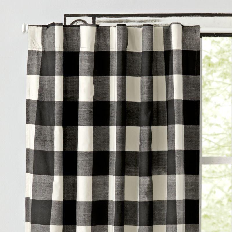 Black Buffalo Check 96 Blackout, Buffalo Check Bedding And Curtains