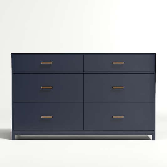 Kids Parke Navy Blue 6-Drawer Dresser
