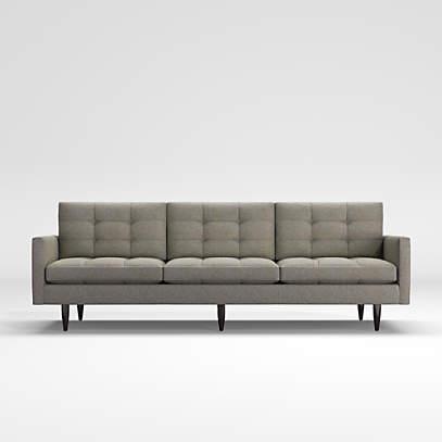 Petite Modern 3 Seat Tufted Sofa, Modern Mid Century Furniture Canada