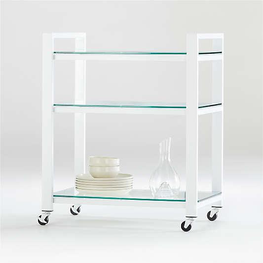 Pilsen Salt Cart with Glass Shelves