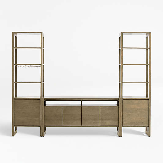 """Prescott 60"""" Media Console and 2 Towers"""