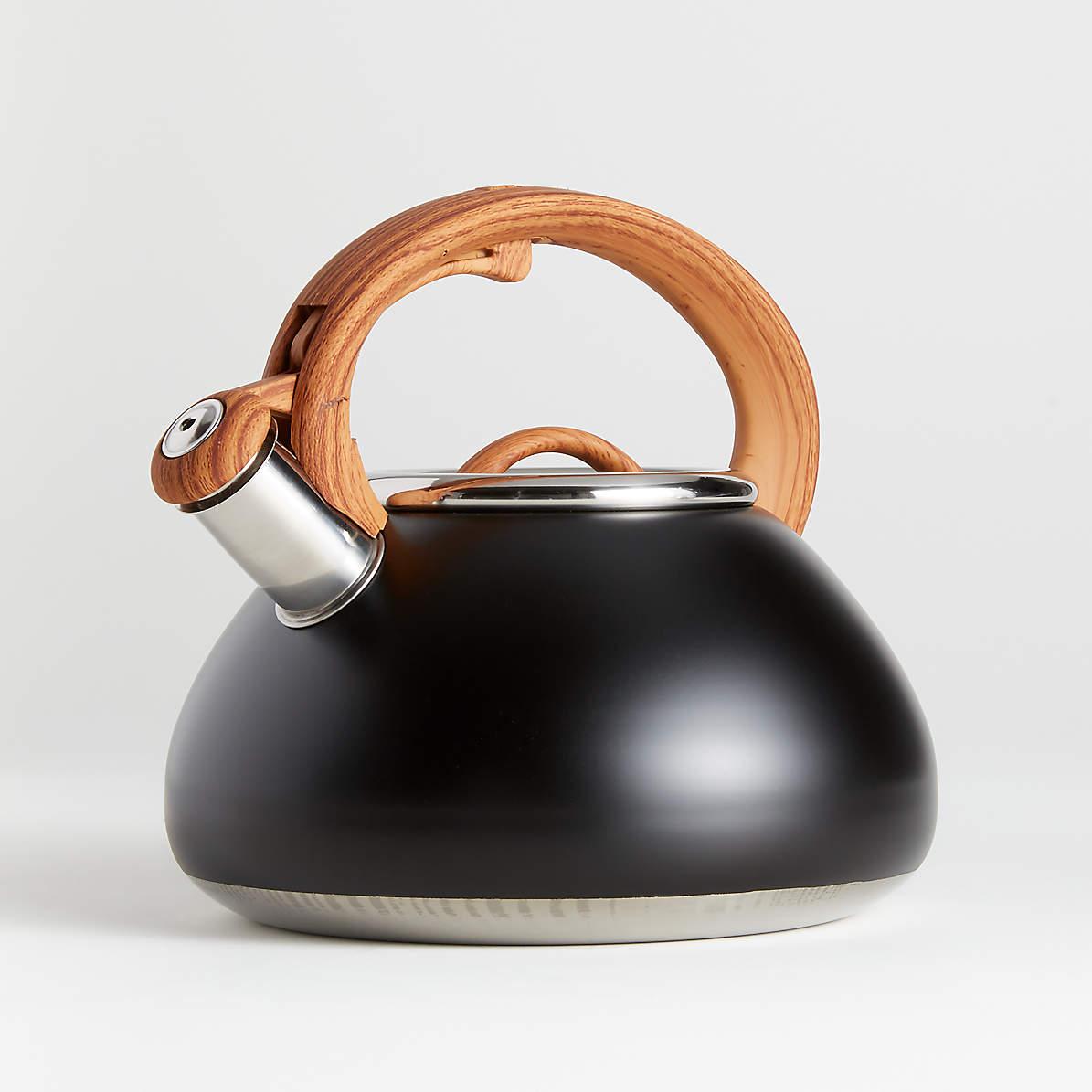 Primula Matte Black Tea Kettle With Wood Look Handle Reviews Crate And Barrel Wallpaper autumn hand picnic tea kettle