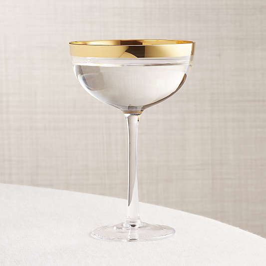 Pryce Gold Coupe Glass