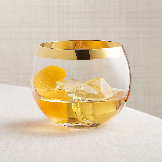 Pryce Gold Rocks Glass