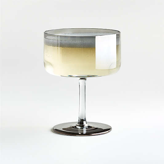 Rhea Grey Ombre Coupe Glass