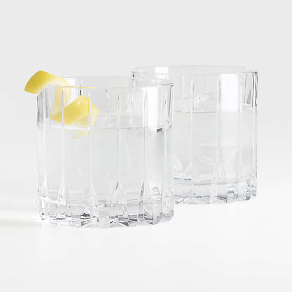 YEARLY Crystal Drinking Glasses Tumbler,Hexagon Red Wine Glasses Cup Stemless Snifters Heavy Base Juice Glasses Clear Water Glasses
