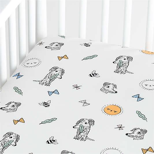 Organic Roxy Marj Puppy Crib Fitted Sheet