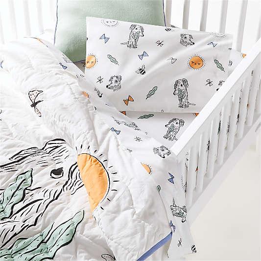 Organic Roxy Marj Puppy Toddler Sheet Set