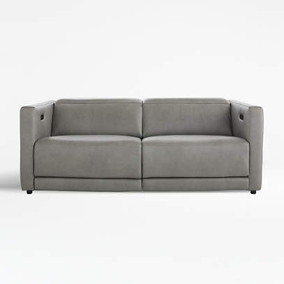 Russo Leather Power Reclining Sofa, Modern Reclining Sofas