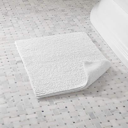 Rylan White Reversible Bath Rug 18 X24, Reversible Bathroom Rugs