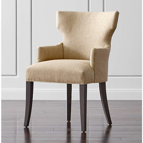 Wingback Chairs Crate And Barrel, Upholstered Living Room Chairs With Arms