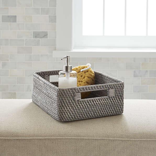 Bathroom Baskets Crate And Barrel, Towel Basket Bathroom