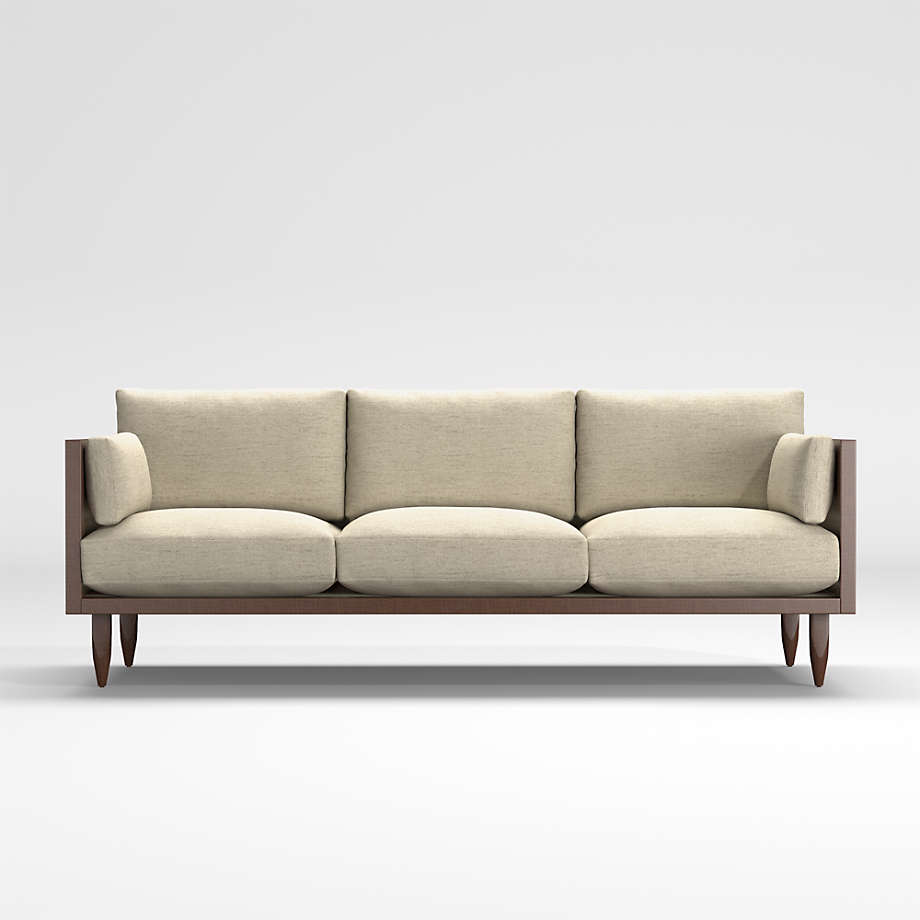 Sherwood 12 Seat Exposed Wood Frame Sofa