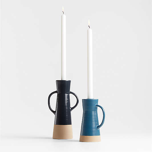 Sibely Ceramic Taper Candle Holders
