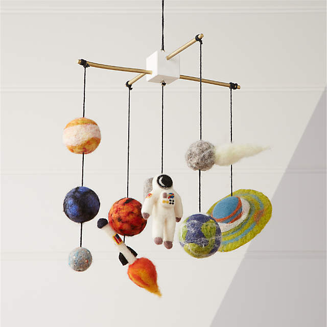 Solar system baby crib mobile as baby shower gifts