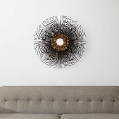 Starburst Round Wall Mirror Reviews, Round Decorative Mirror Canada