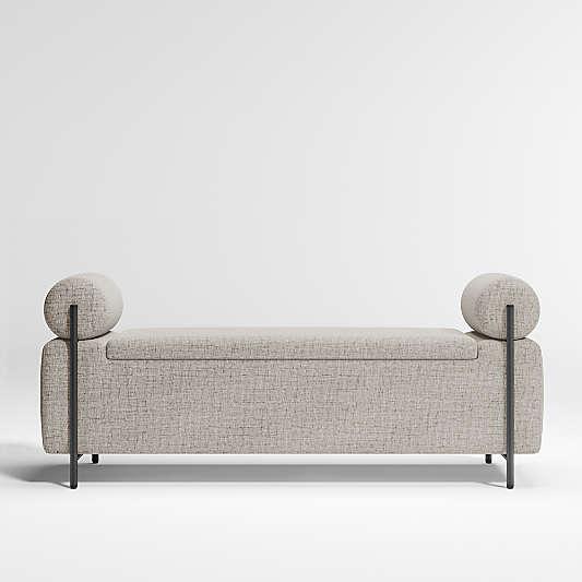 Steen Grey Storage Bench
