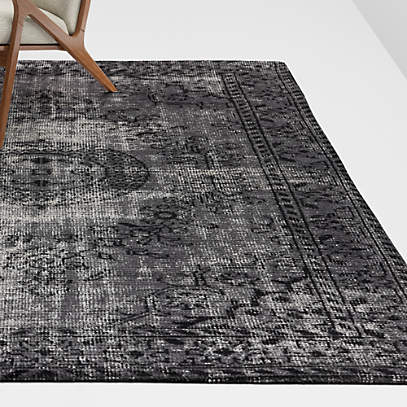 Surina Black Rug Crate And Barrel