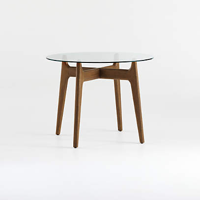 Tate 38 Round Dining Table With Glass, 42 In Round Glass Table Top