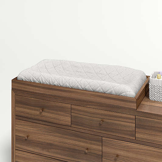 Taylor Walnut Kids Changing Table Topper