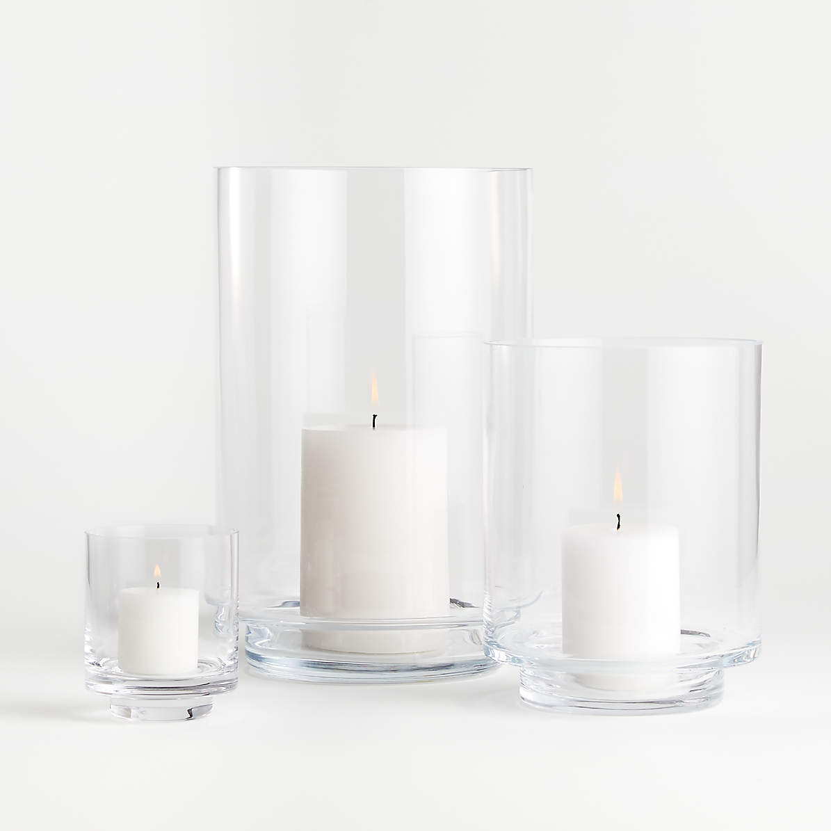 Taylor Glass Hurricane Candle Holders, Decorative Glass Hurricane Lamps