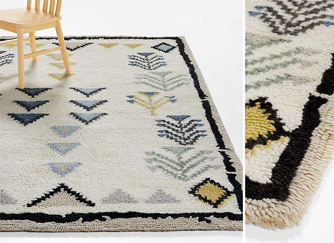 Taza Washable Wool Geometric Rug