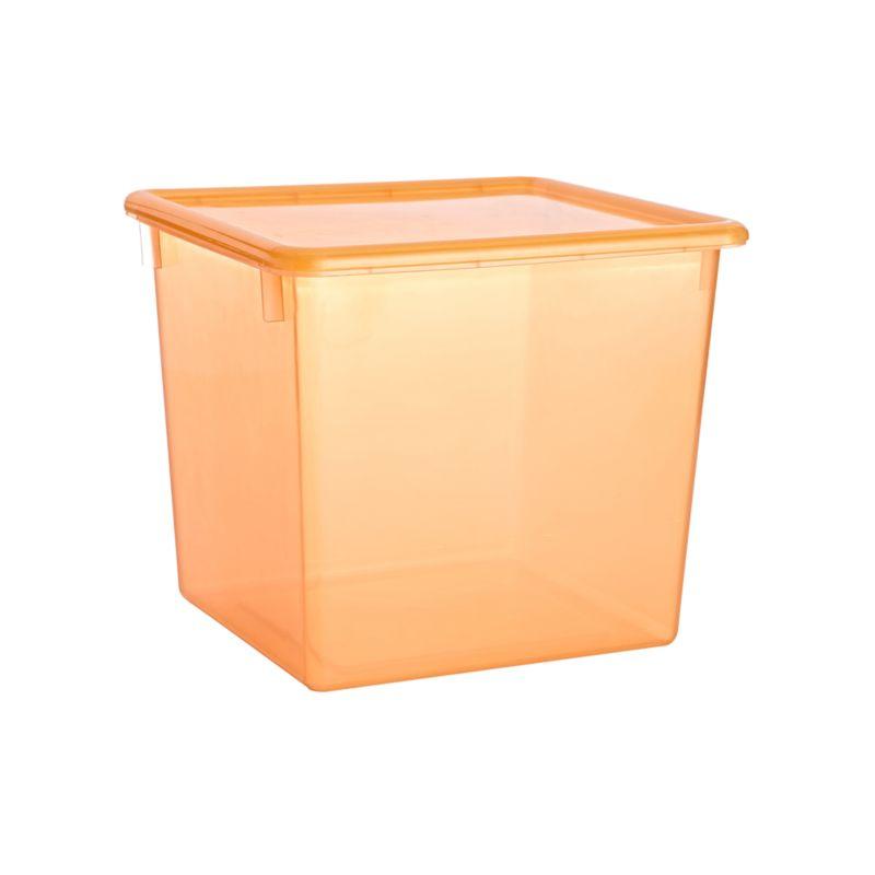 Large Orange Plastic Storage Box, Orange Plastic Storage Totes
