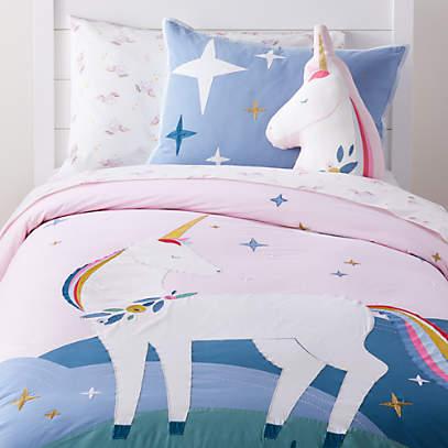 Girls Unicorn Bedding Crate And Barrel, Pink Unicorn Bedding Twin