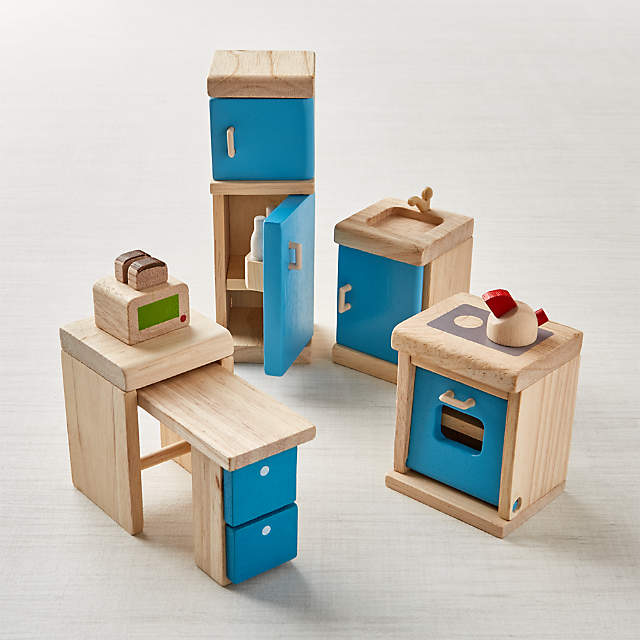 Plan Toys Kitchen Dollhouse Furniture, Pictures Of Dollhouse Furniture