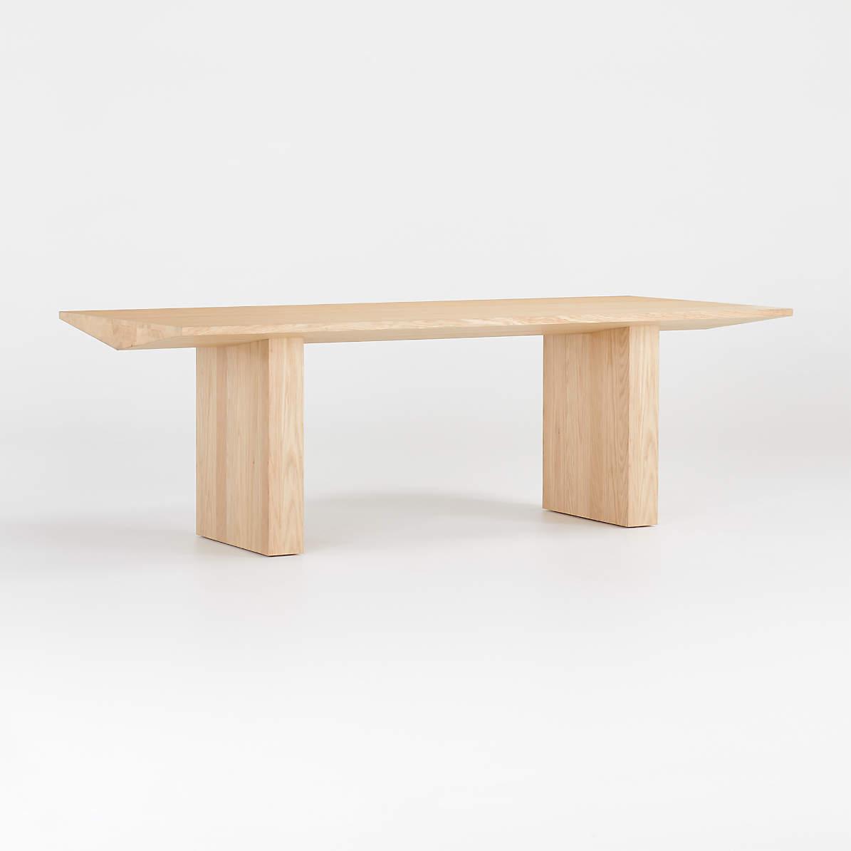 Van Natural Wood Dining Table + Reviews   Crate and Barrel Canada