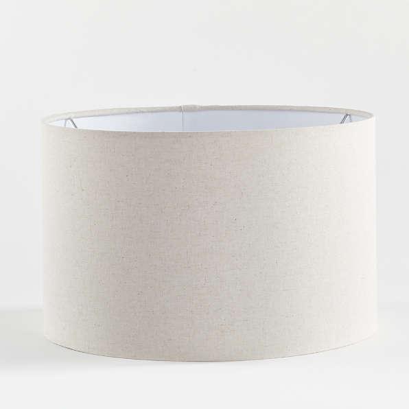 Drum Shades Crate And Barrel, Slip Uno Drum Lamp Shades