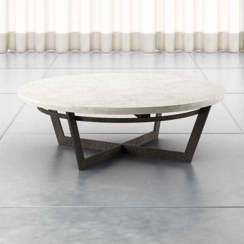 Verdad Round White Marble Coffee Table, White Round Coffee Tables