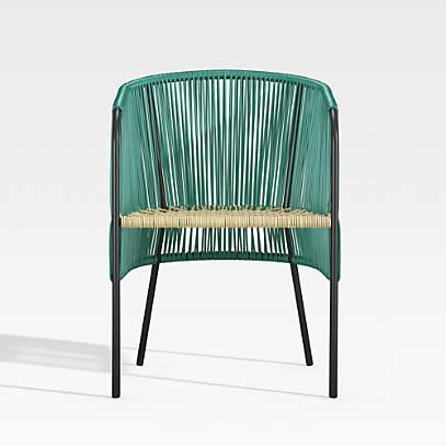 Verro Green Outdoor Patio Dining Chair, Green Patio Furniture