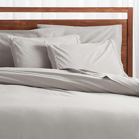 Organic Cotton Grey Duvet Covers and Pillow Shams