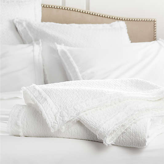 Organic Cotton White Coverlets and Euro Sham