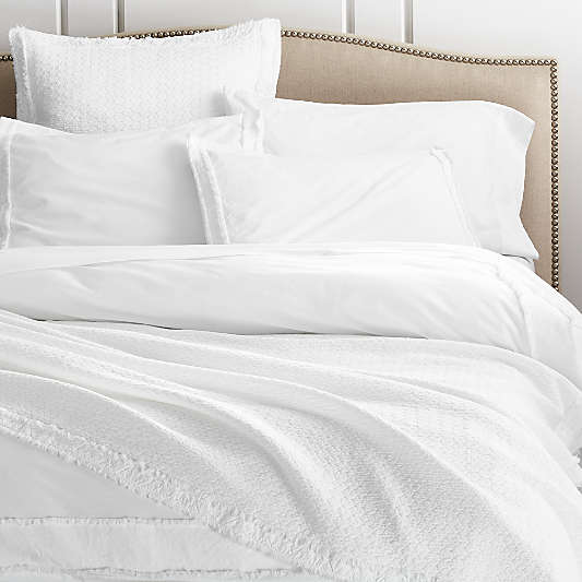 Organic Cotton White Duvet Covers and Pillow Shams