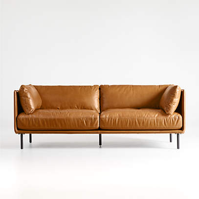 Wells Leather Sofa Reviews Crate, Crate Barrel Sofa