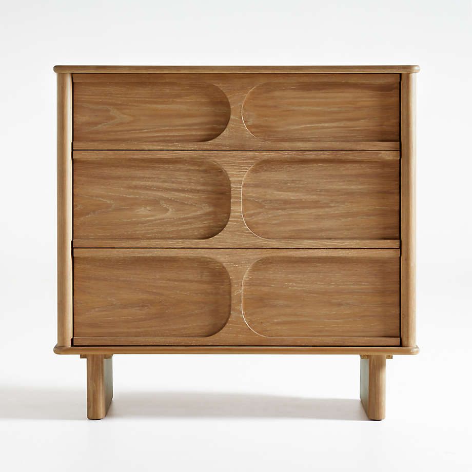 Wes 3-Drawer Wood Dresser (Open Larger View)