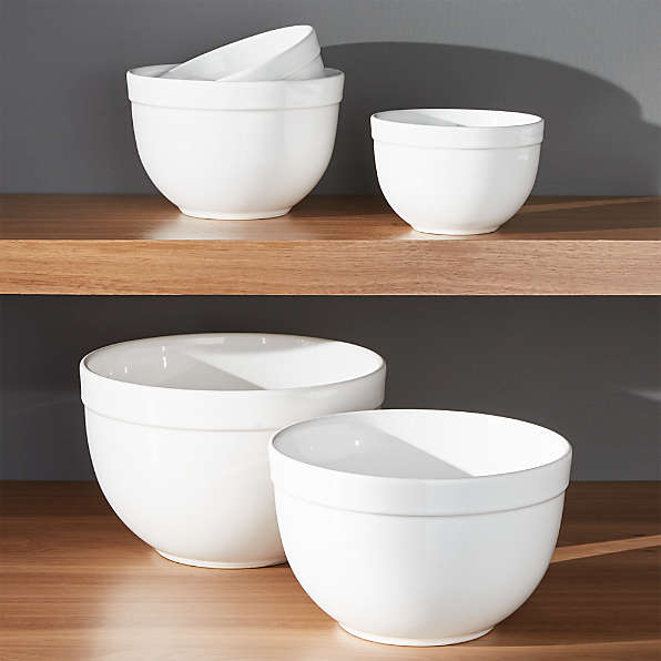 """All White by Crate /& Barrel CEREAL POLAND ALL PURPOSE BOWL 5 5//8/"""" Diner"""