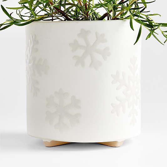 Snowflake White Planter
