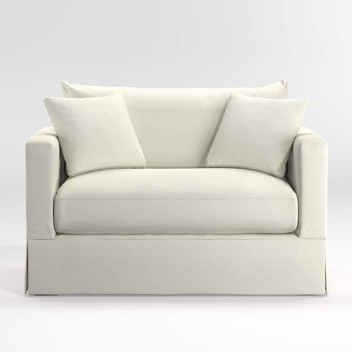 Willow White Twin Sleeper Sofa
