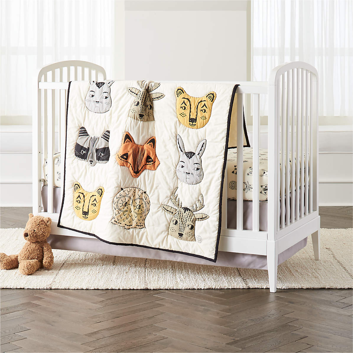 jungle quilt crib quilt Baby quilt pastel quilt baby rag quilt nursery quilt animal quilt #105