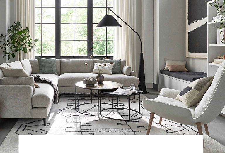 Free Interior Design Services The, Crate And Barrel Living Rooms