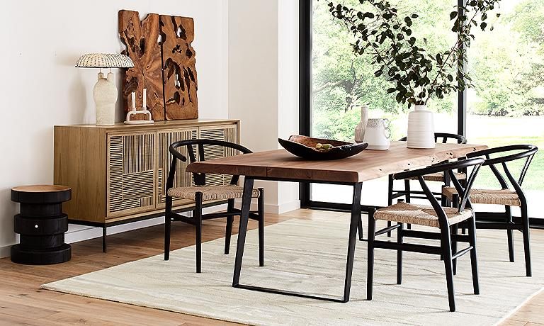 Modern Rustic Dining Room Crate And, Rustic Dining Room Table