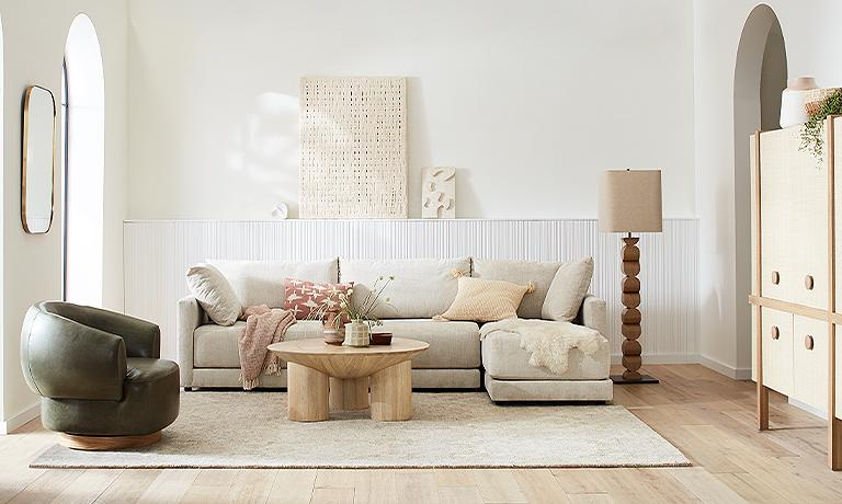 Neutral Living Room Crate And Barrel, Crate And Barrel Living Rooms